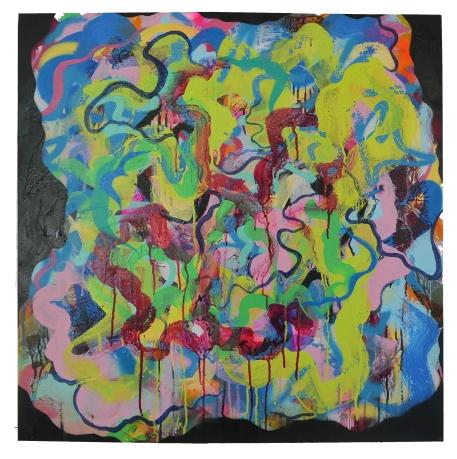 'Erase You' Mixed medium on canvas. 760 x 760 mm. 2015
