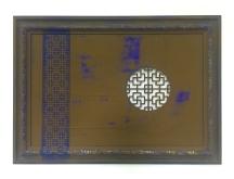 'Blue Interplay' Acrylic on board 780 x 1100mm