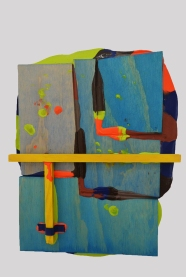 Dandy 2015, Acrylic and wood, 360 x 280 mm