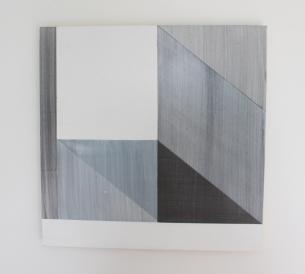 DIANE SCOTT Carbon 2015 Acrylic, graphite and aluminium 400 x 400mm