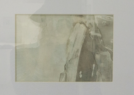 ESTHER LEIGH Graphite and paint on polyester film 365 x 325 mm
