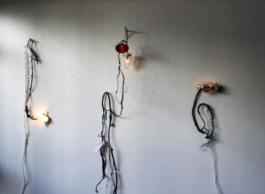 Installation shot of Porch Light series by FIONA JOHNSTONE