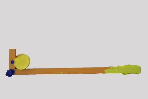 Mellow Bearing 2015, Acrylic and wood, 178 x 880 mm