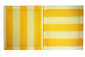 Parallel 2015 Acrylic, wooden stretcher 550 x 600 mm each (diptych)