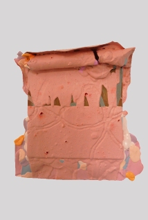 Prom Queen 2013/14, Acrylic, builders fill, pigment and wood, 280 x 270 mm