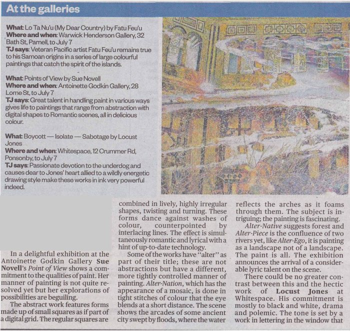 Sue Novell Herald Review 2012