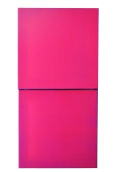 Ultraviolet 2015 Acrylic, silk, wooden stretcher 350 x 350 mm each (diptych)