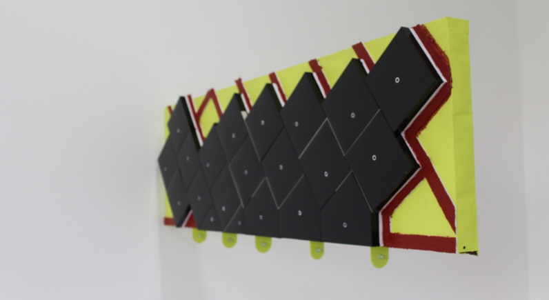 Eulogy to James Longstreet. A reconstruction work and a lament. 2015 Paint on paper card, cardboard and glue. Steel fasteners. 1210 x 440 x 80mm (approx.)