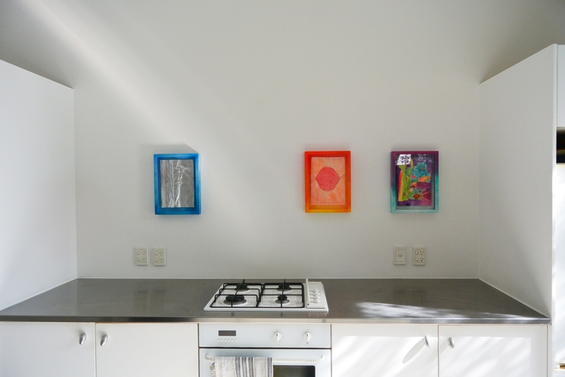 installation shot above cooktop