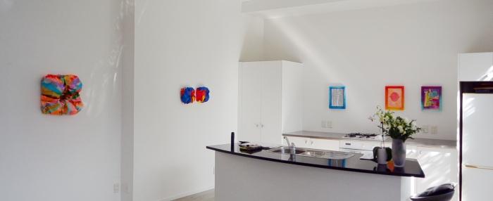 installation shot of left side works