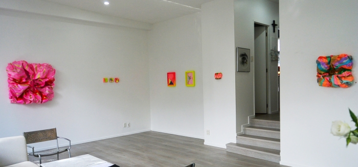 installation shot of right side works