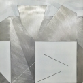 DIANE SCOTT Thinking Room 2016 Enamel, aluminium 800 x 800 mm