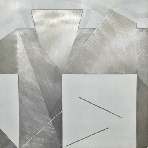 DIANE SCOTT Thinking Room 2016 Enamel, aluminium 800 x 800 mm