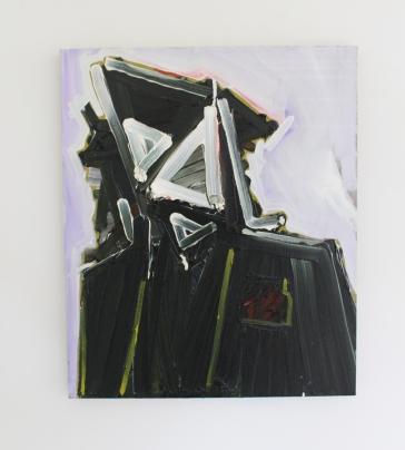 Toby Raine, (Baron Yeti Lives!) John Bonham with beard and hat, Oil on linen 500 x 600mm